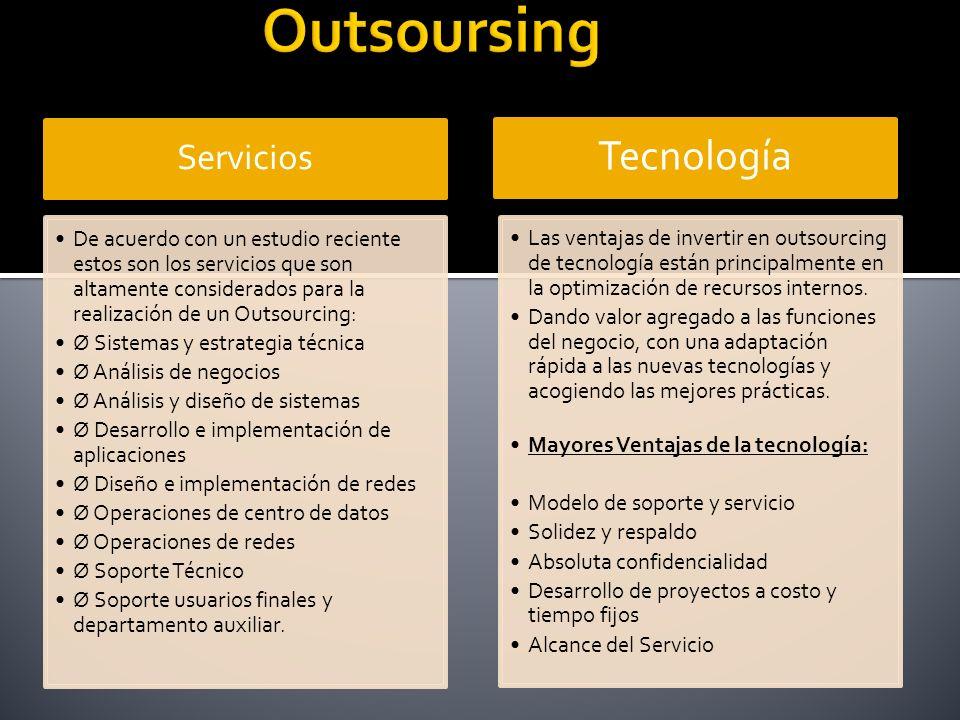 Outsoursing Tecnología Servicios