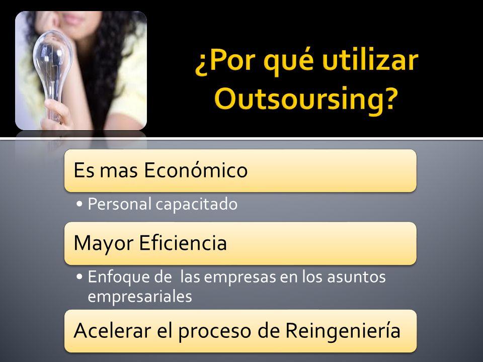 ¿Por qué utilizar Outsoursing