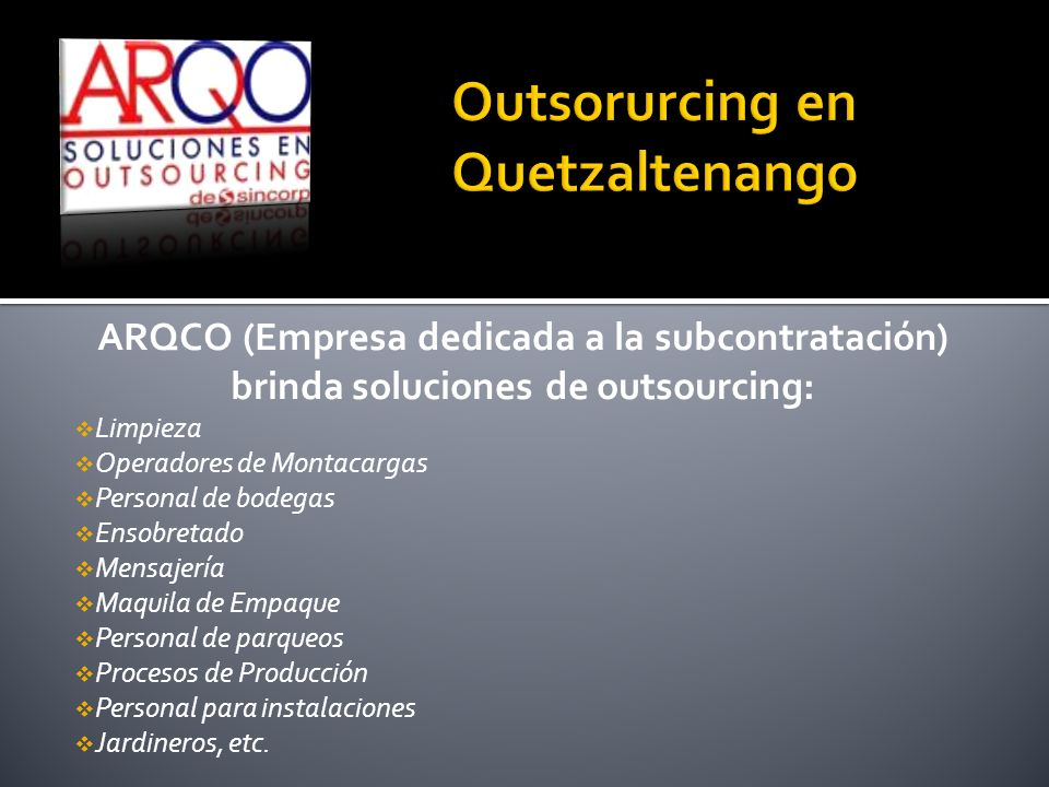 Outsorurcing en Quetzaltenango