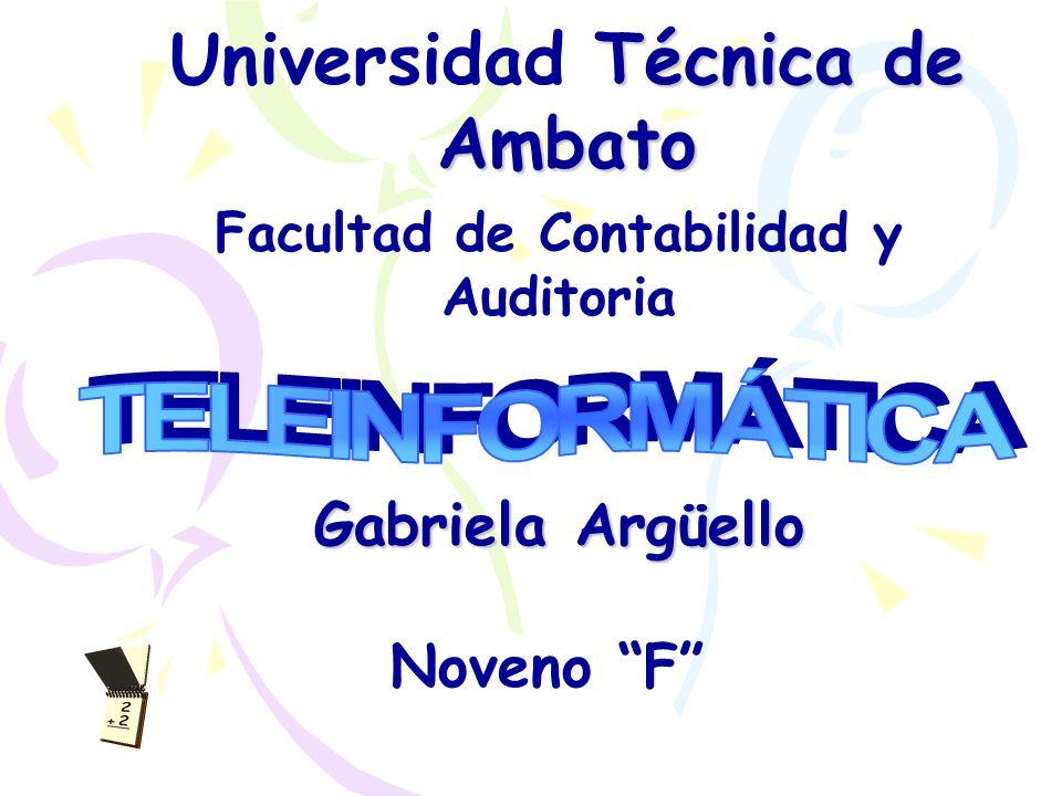 Universidad Técnica de Ambato Facultad de Contabilidad y Auditoria