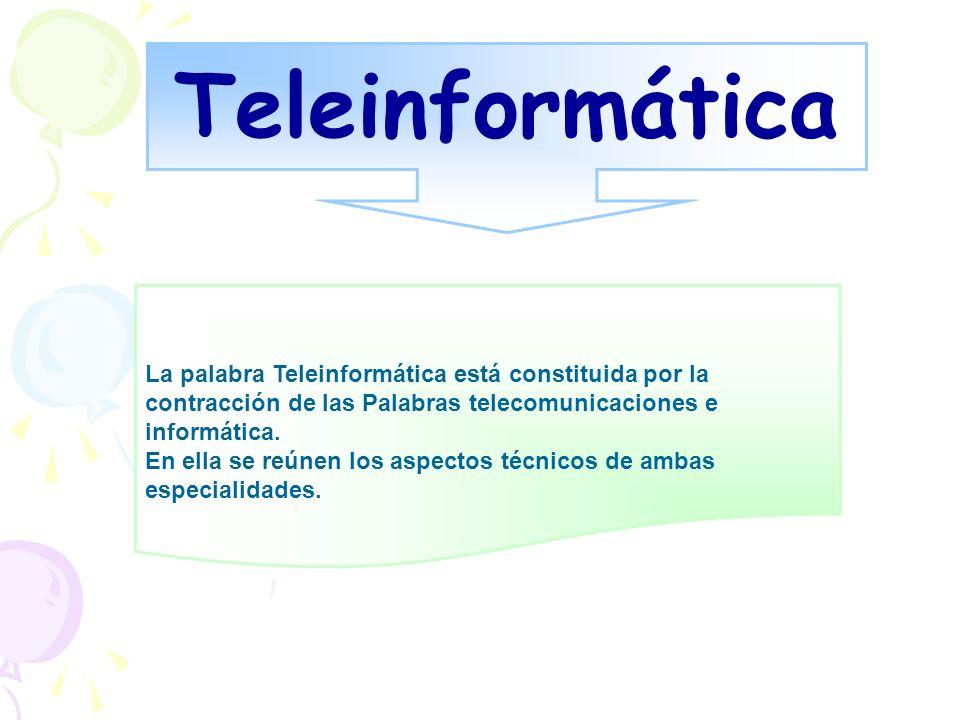 Teleinformática La palabra Teleinformática está constituida por la