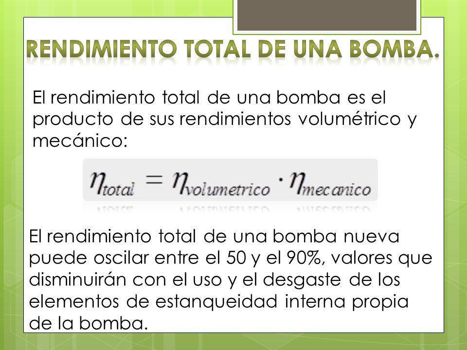 Rendimiento total de una bomba.