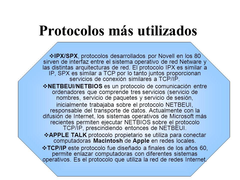 Protocolos más utilizados