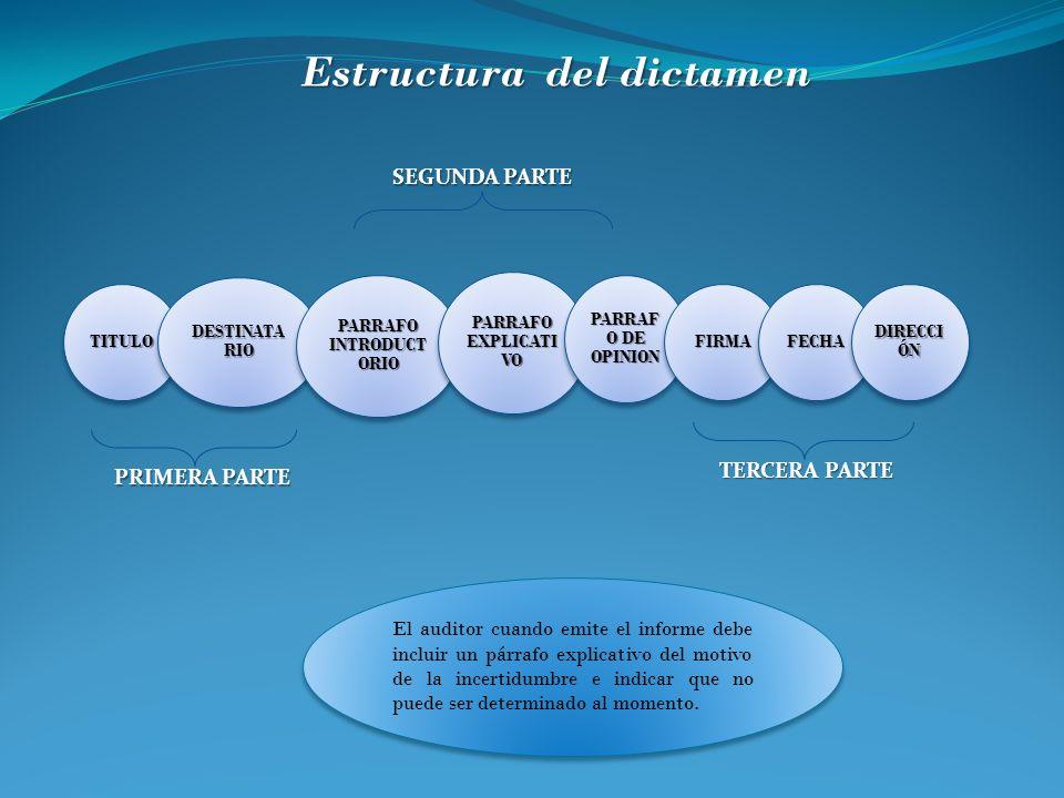 Estructura del dictamen