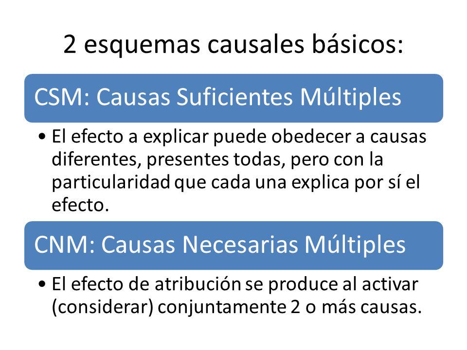 2 esquemas causales básicos: