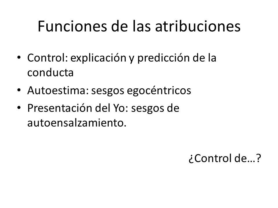 Funciones de las atribuciones