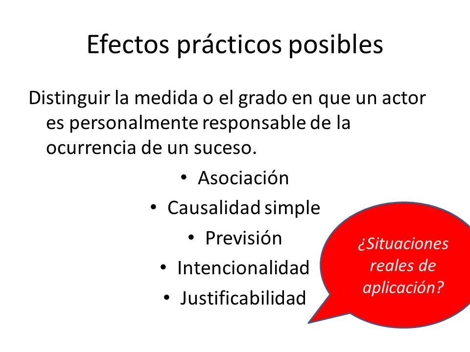 Efectos prácticos posibles