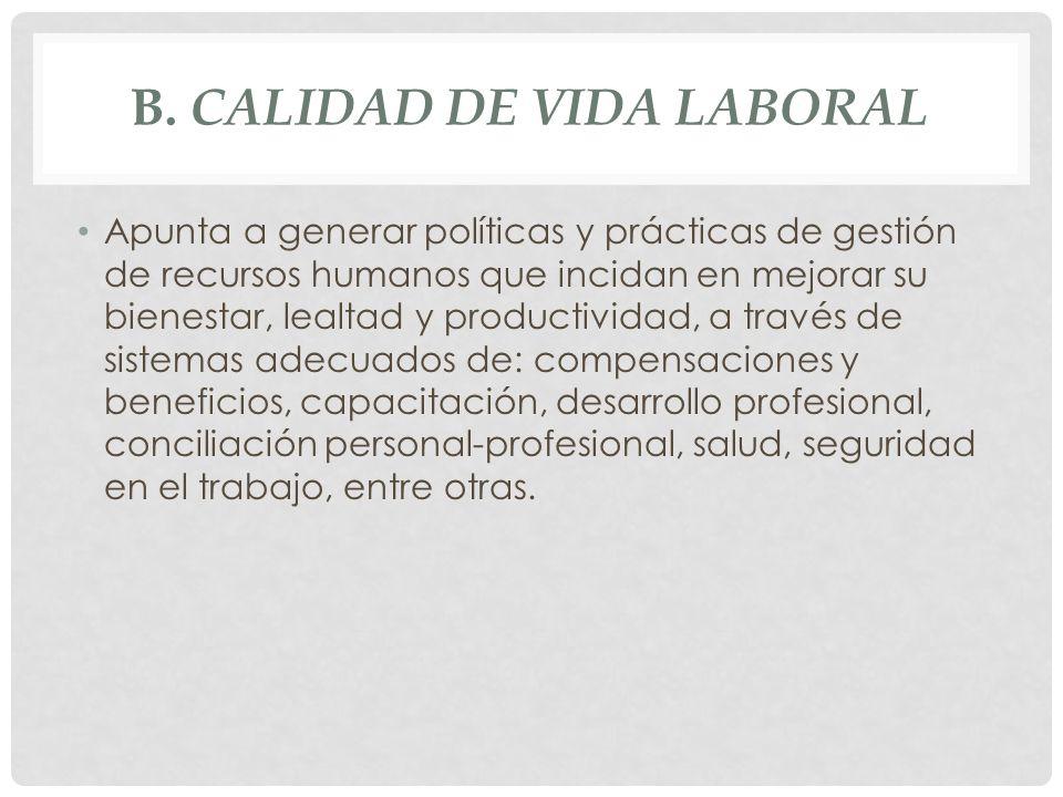 b. Calidad de Vida Laboral