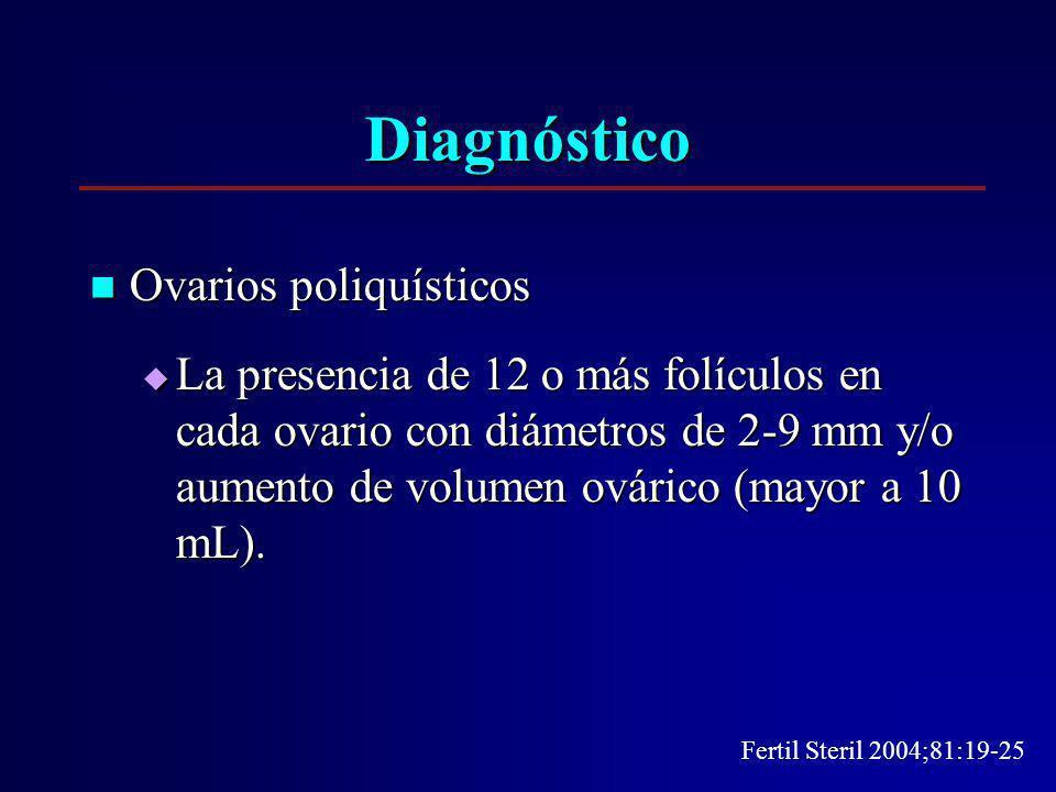 Diagnóstico Ovarios poliquísticos