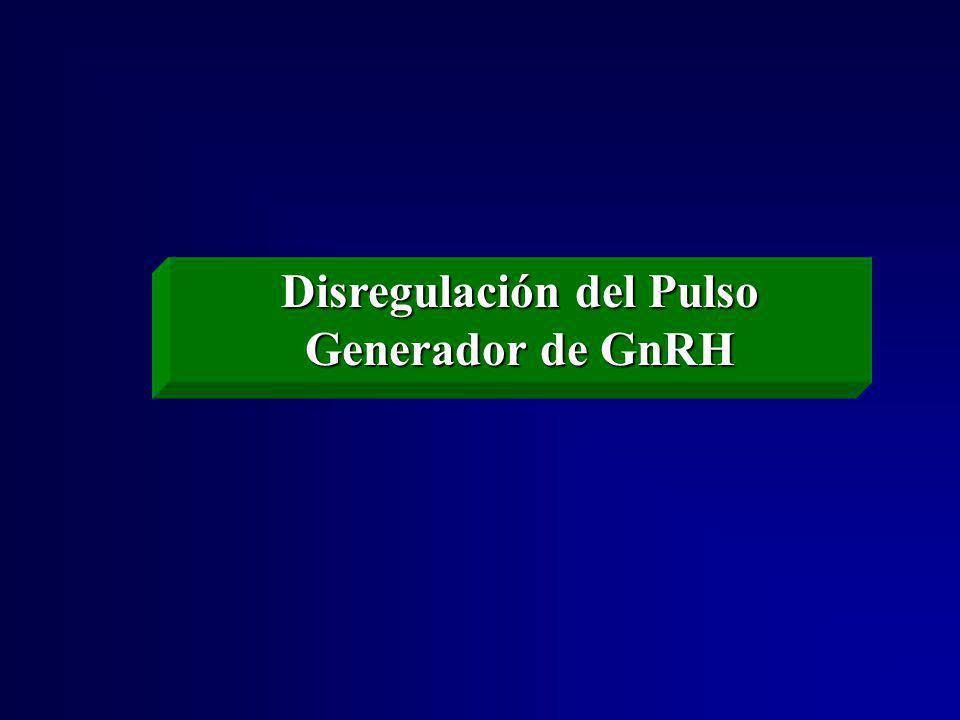 Disregulación del Pulso Generador de GnRH