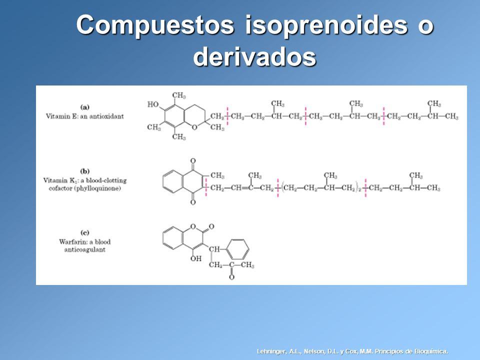 Compuestos isoprenoides o derivados