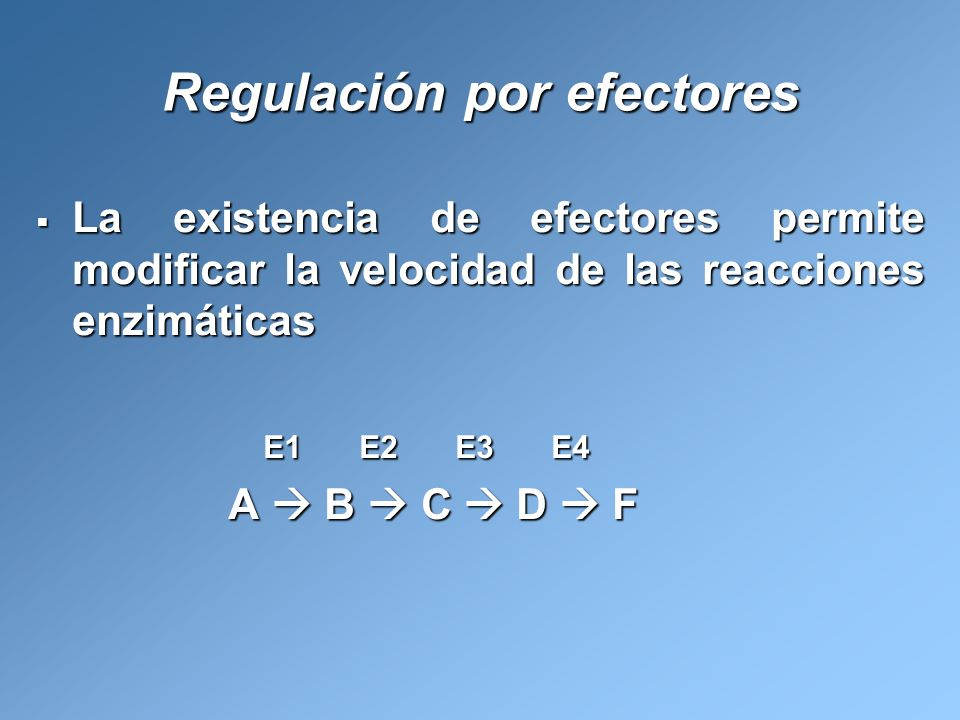 Regulación por efectores