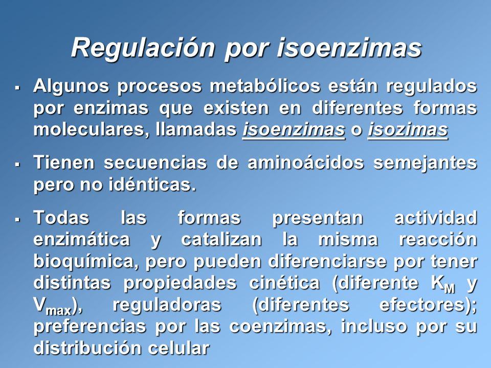 Regulación por isoenzimas