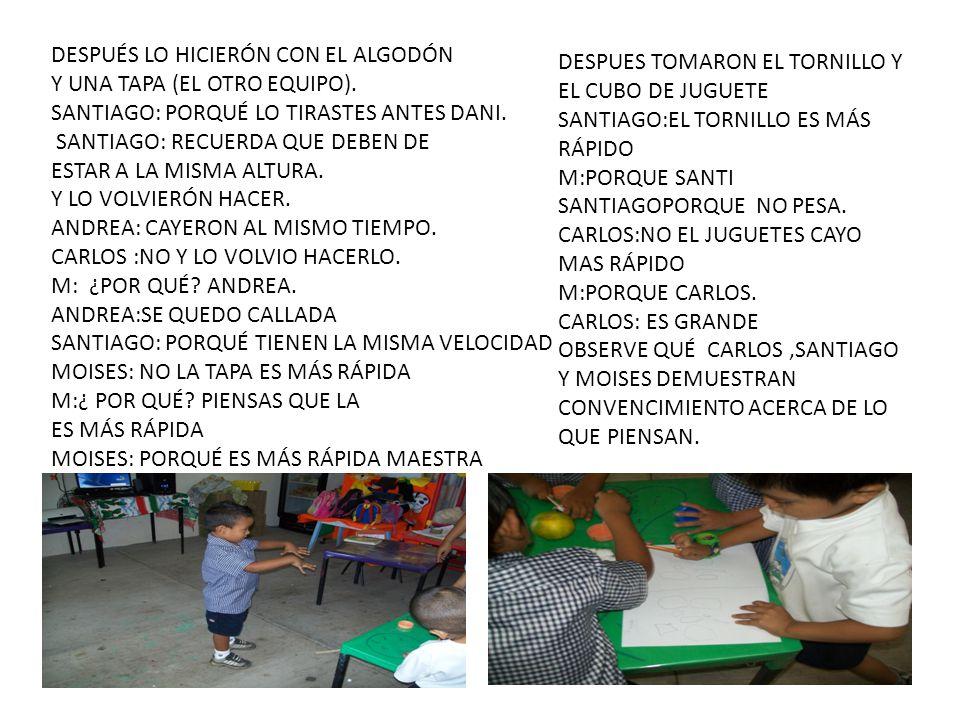 DESPUÉS LO HICIERÓN CON EL ALGODÓN