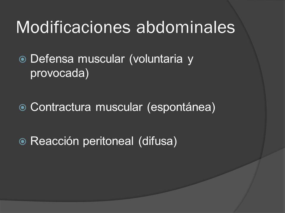 Modificaciones abdominales