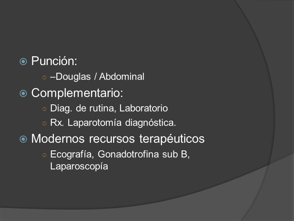 Modernos recursos terapéuticos