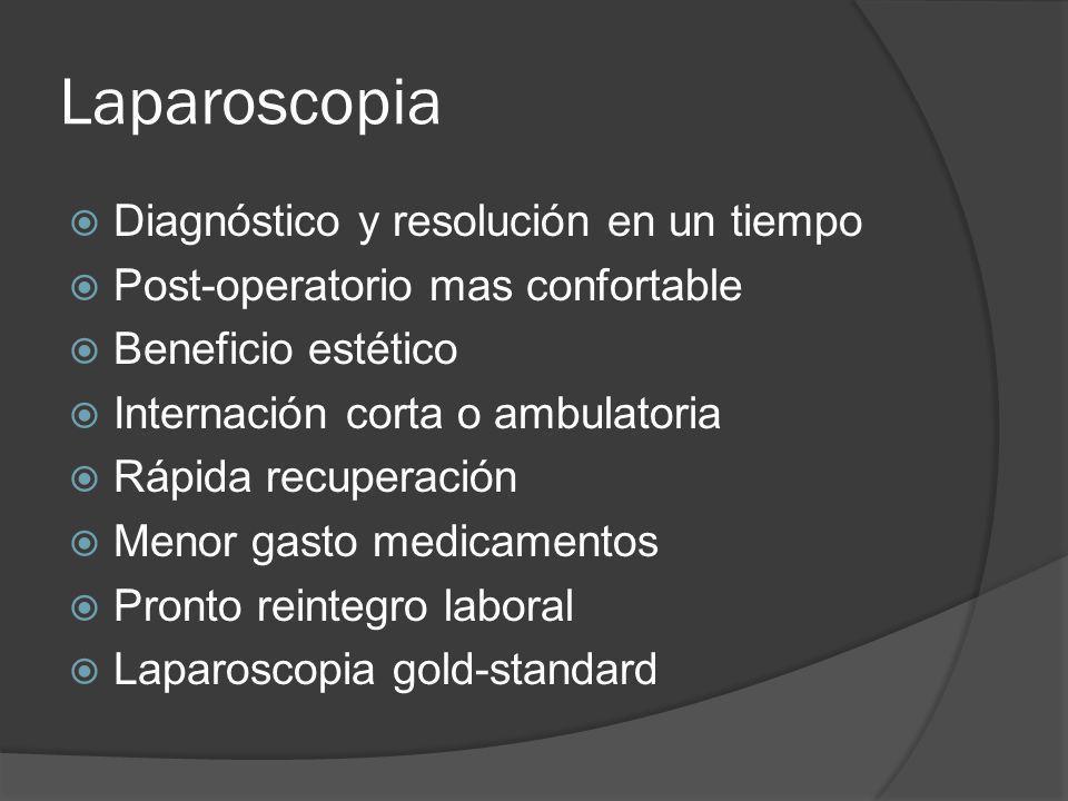 Laparoscopia Diagnóstico y resolución en un tiempo