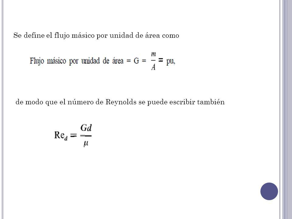 Se define el flujo másico por unidad de área como
