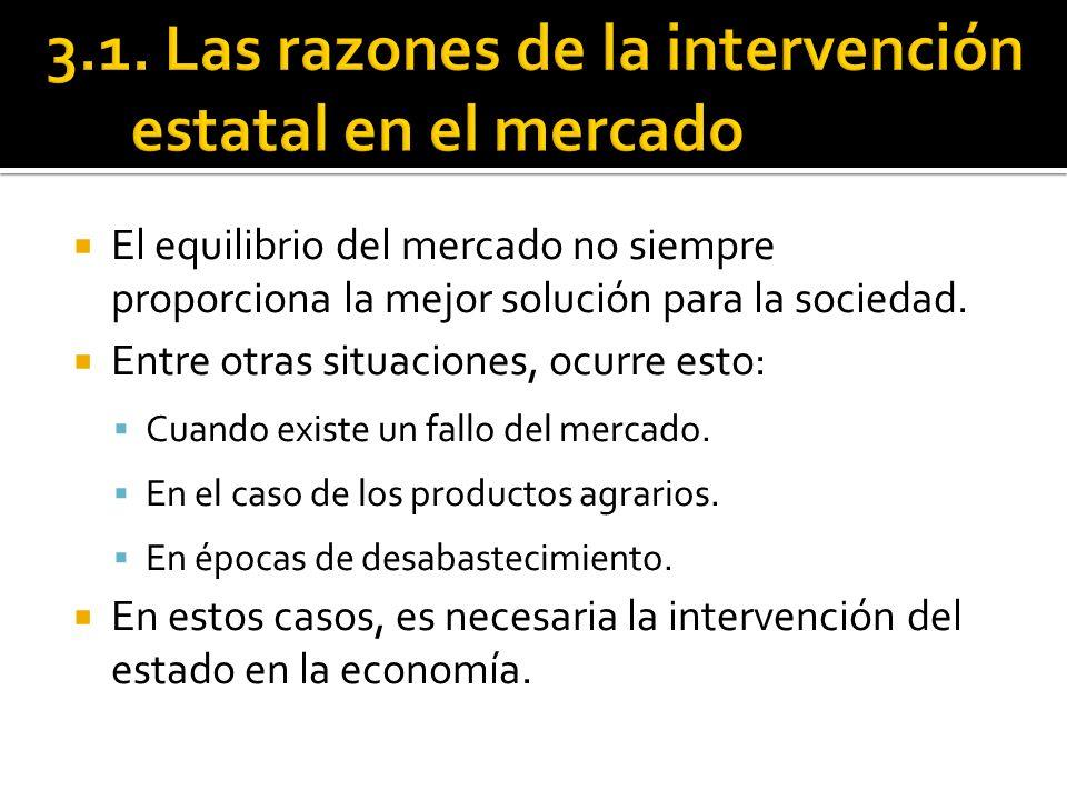 3.1. Las razones de la intervención estatal en el mercado