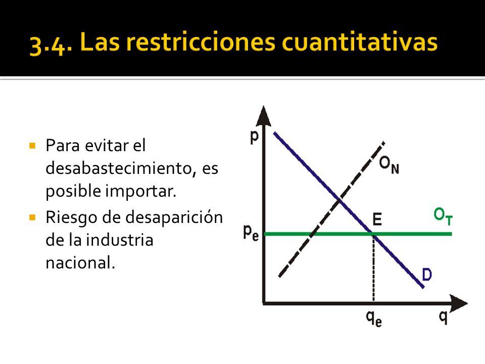 3.4. Las restricciones cuantitativas