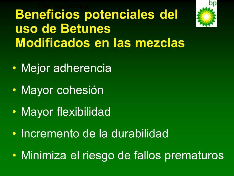 Beneficios potenciales del uso de Betunes Modificados en las mezclas