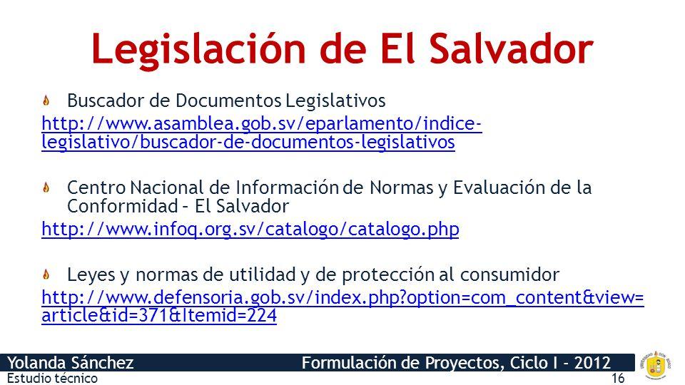 Legislación de El Salvador