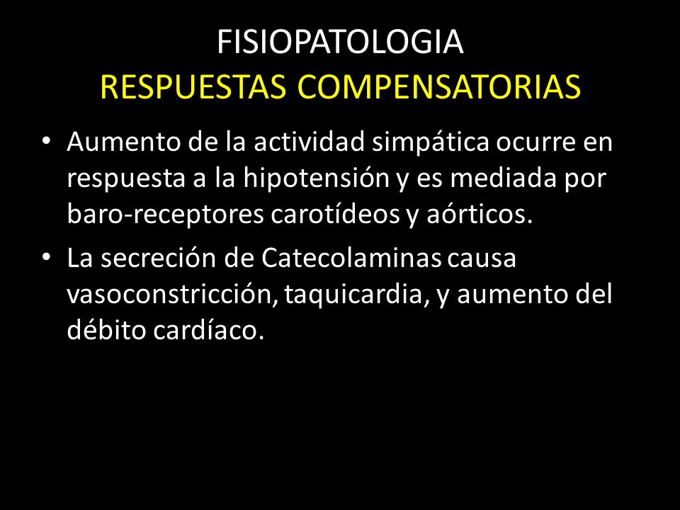 FISIOPATOLOGIA RESPUESTAS COMPENSATORIAS