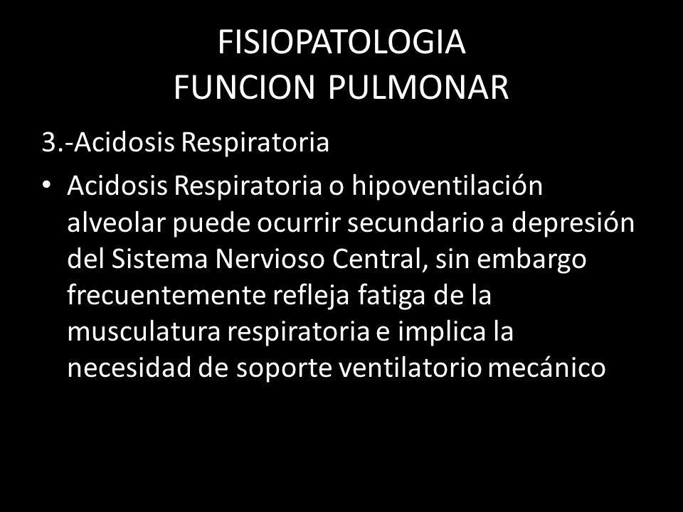 FISIOPATOLOGIA FUNCION PULMONAR