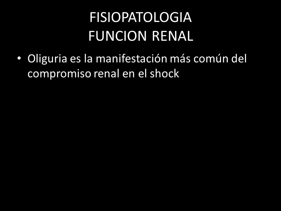 FISIOPATOLOGIA FUNCION RENAL