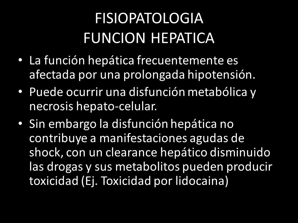 FISIOPATOLOGIA FUNCION HEPATICA