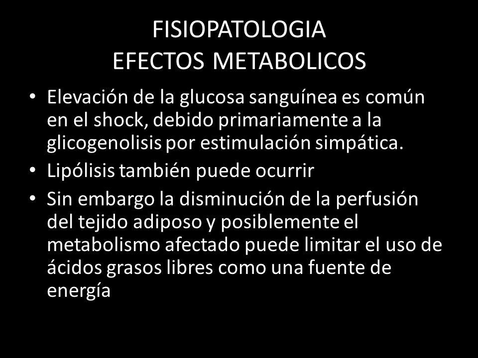 FISIOPATOLOGIA EFECTOS METABOLICOS