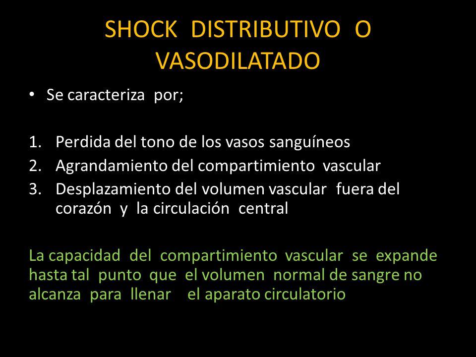 SHOCK DISTRIBUTIVO O VASODILATADO