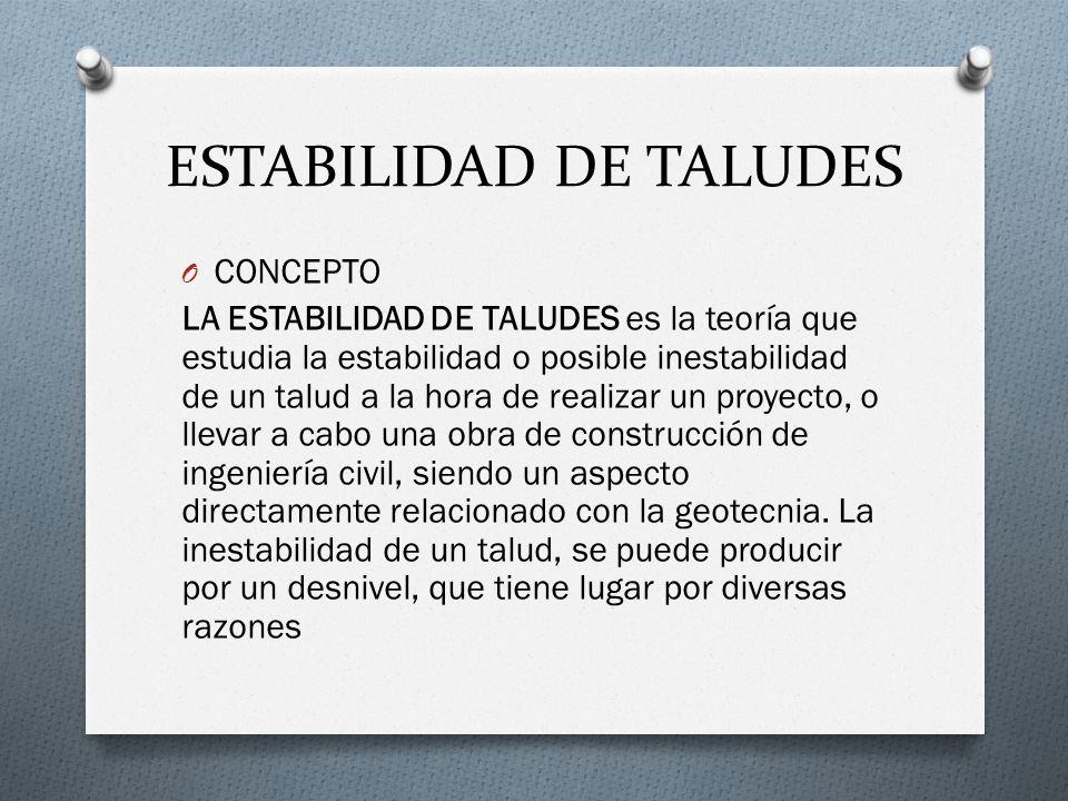 ESTABILIDAD DE TALUDES