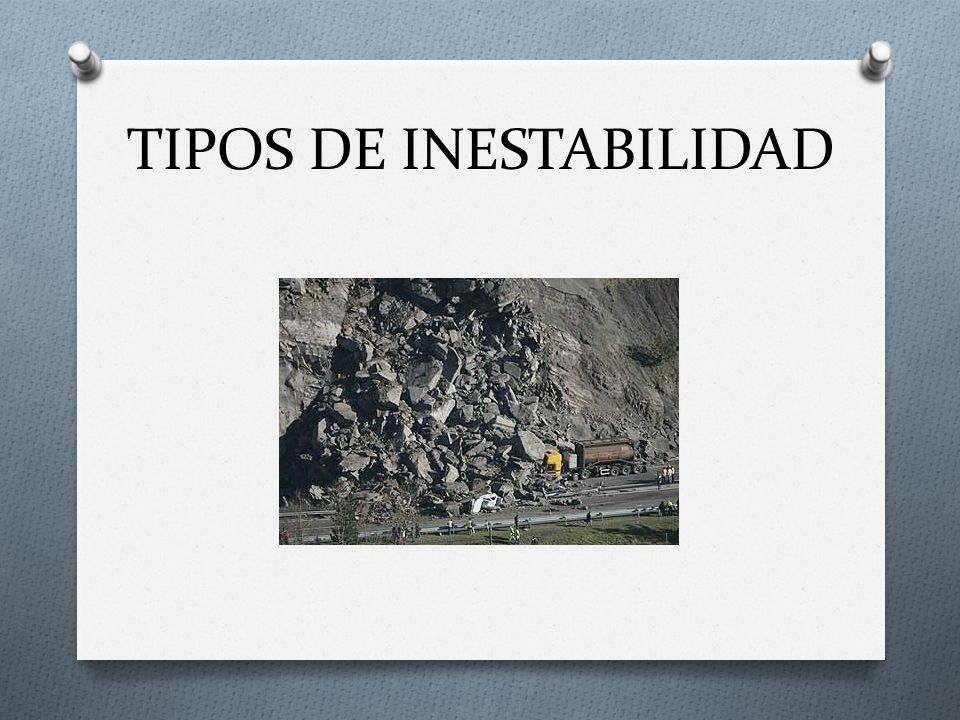TIPOS DE INESTABILIDAD