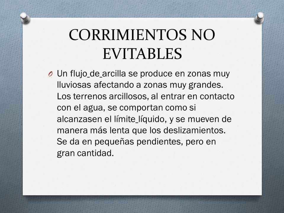 CORRIMIENTOS NO EVITABLES