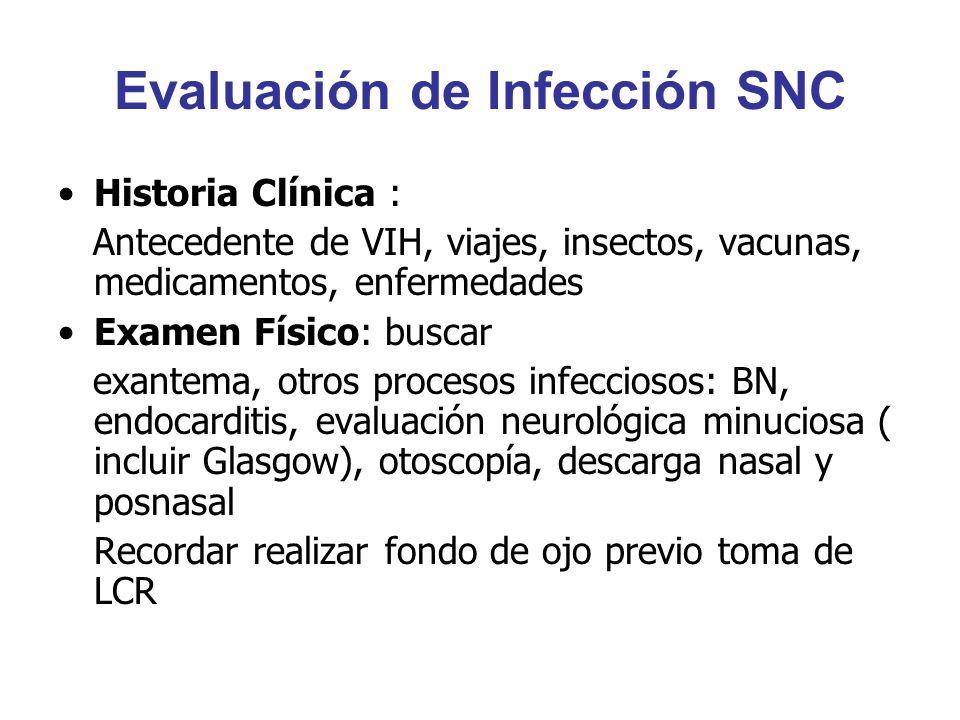 Evaluación de Infección SNC