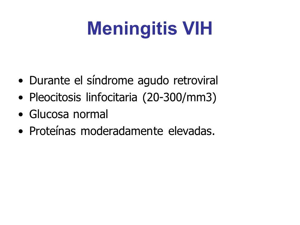 Meningitis VIH Durante el síndrome agudo retroviral