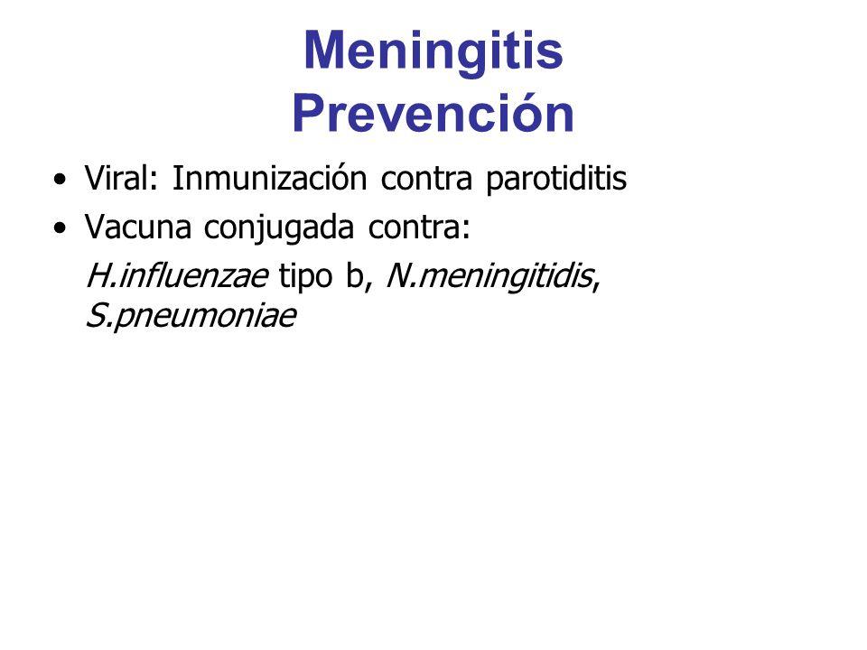 Meningitis Prevención