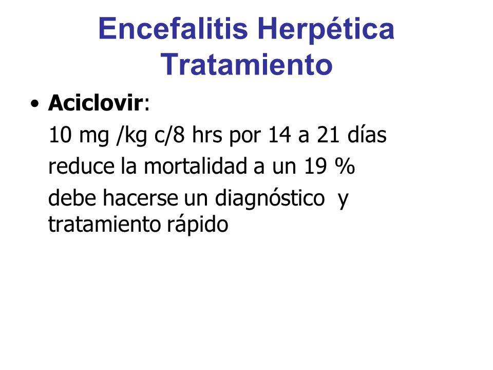 Encefalitis Herpética Tratamiento