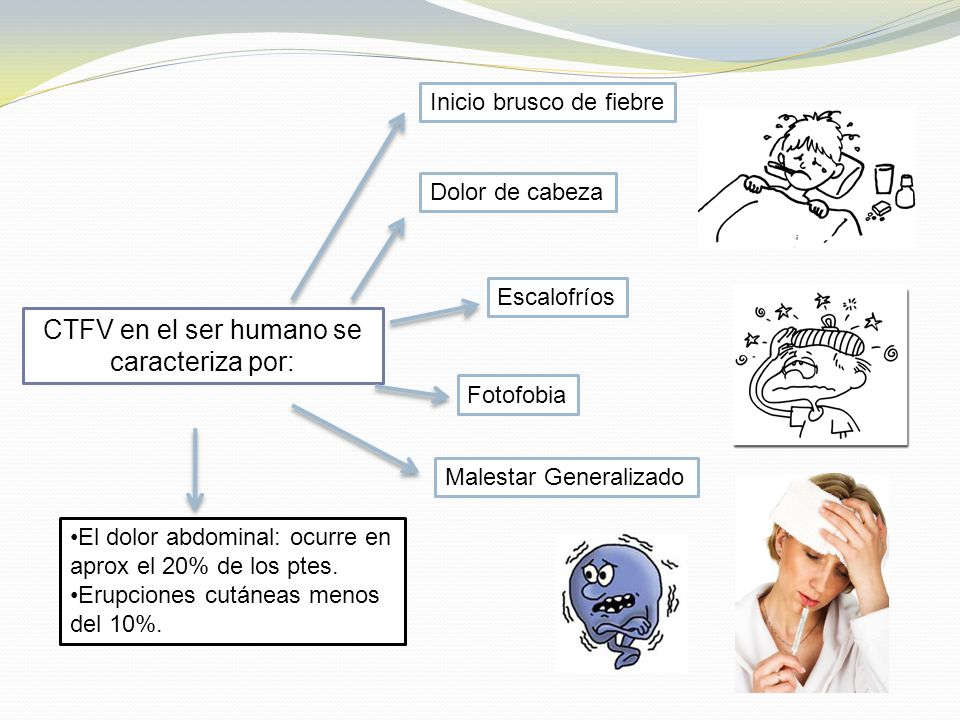 CTFV en el ser humano se caracteriza por: