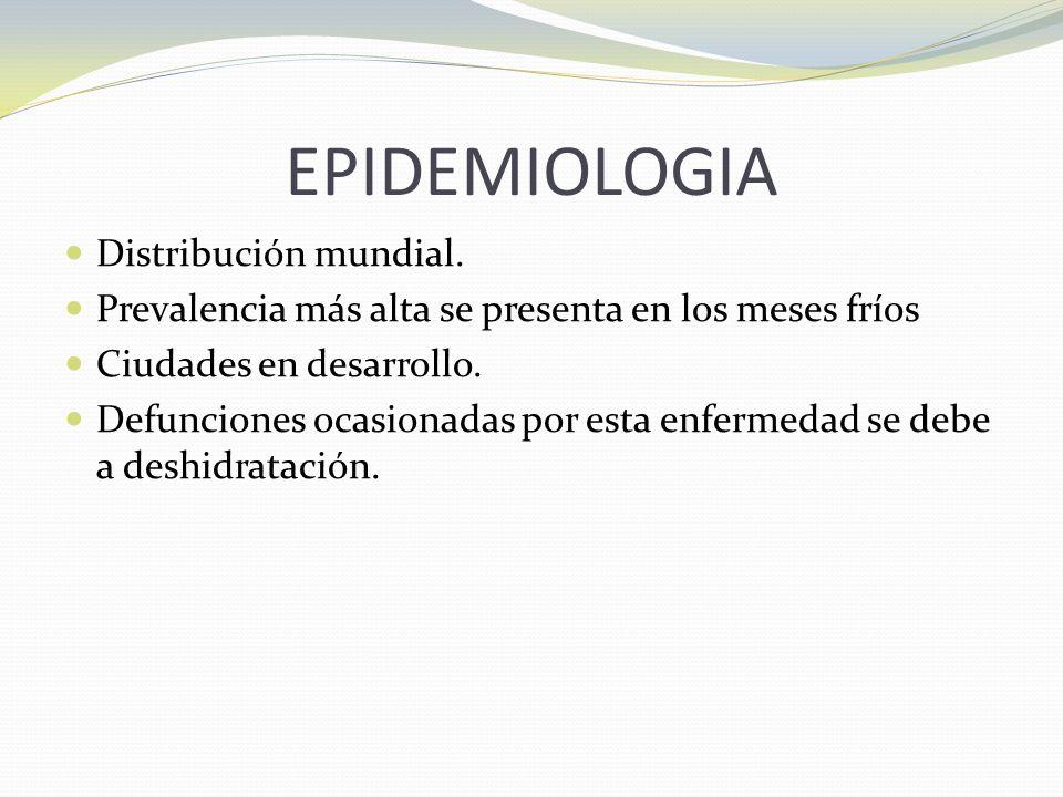 EPIDEMIOLOGIA Distribución mundial.