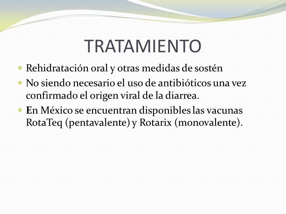 TRATAMIENTO Rehidratación oral y otras medidas de sostén