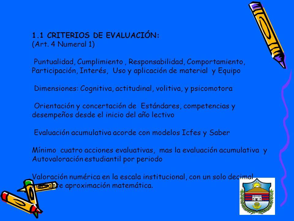 1.1 CRITERIOS DE EVALUACIÓN: