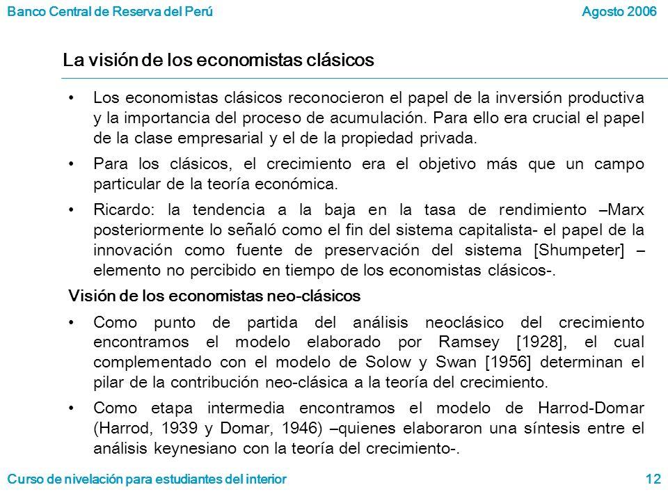 La visión de los economistas clásicos