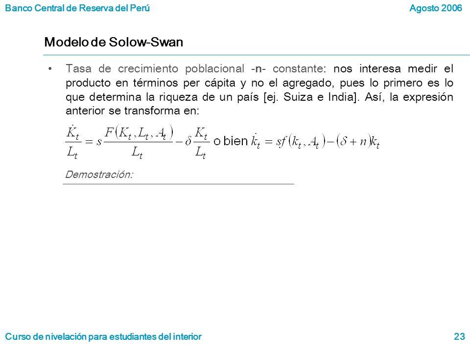 Modelo de Solow-Swan