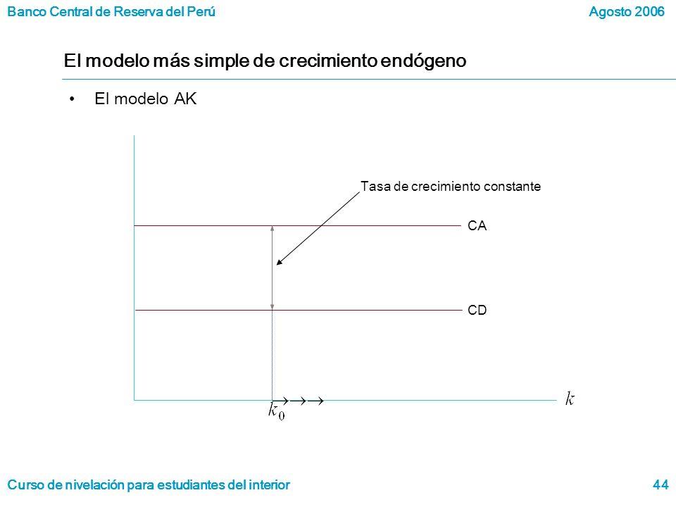El modelo más simple de crecimiento endógeno