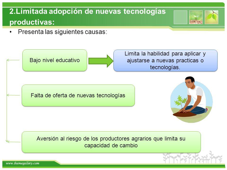 Falta de oferta de nuevas tecnologías