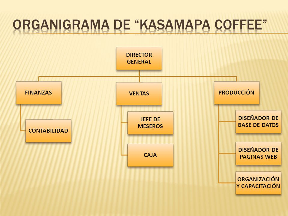 Organigrama de Kasamapa coffee