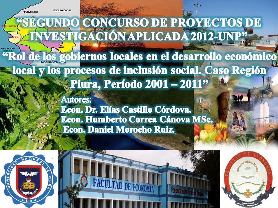SEGUNDO CONCURSO DE PROYECTOS DE INVESTIGACIÓN APLICADA 2012-UNP