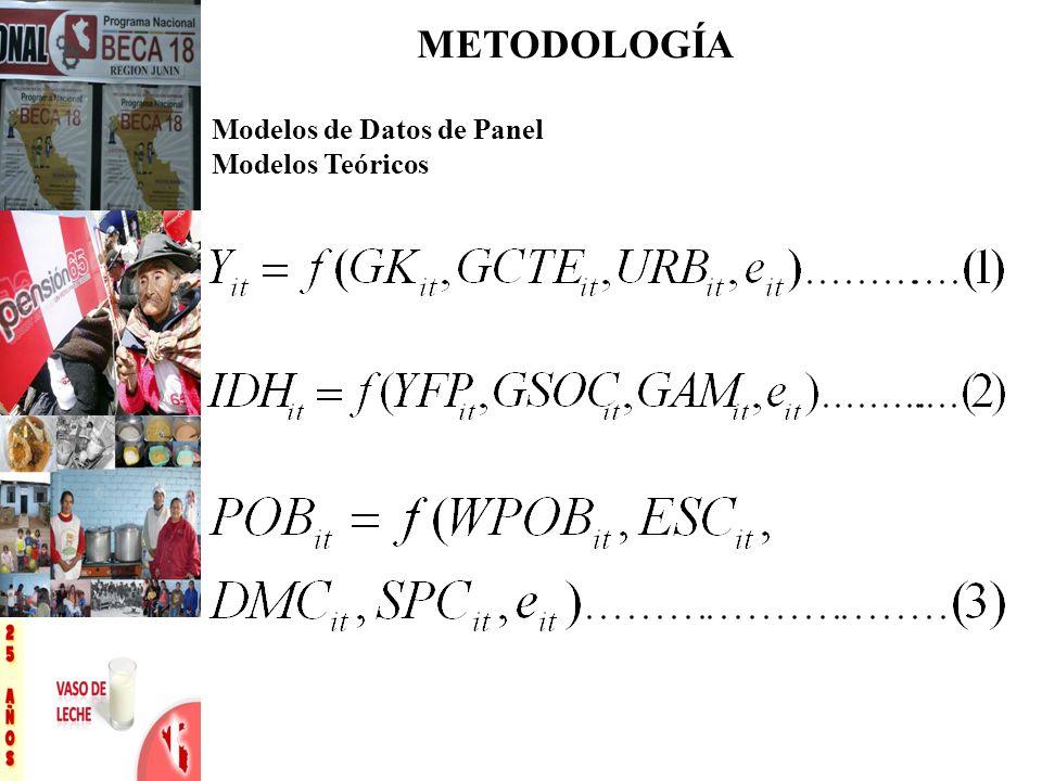 Modelos de Datos de Panel